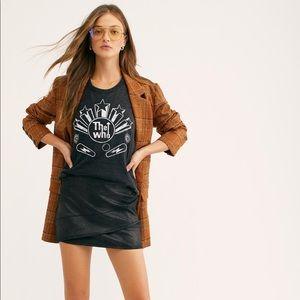 Free People Summer Love Vegan Suede Mini Skirt